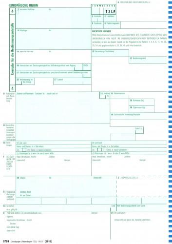 Einheitspapier - Versandpapier COM T2LF - 1-fach, Blatt 4 für Laserdrucker, für die kanarische Inseln 0769F, VPE 100