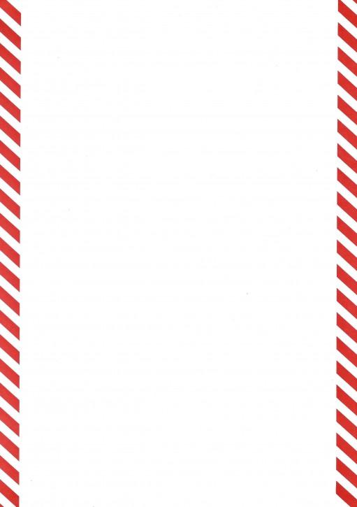 Formulare mit rot schraffiertem Rand (links und rechts) , Sonderanfertigung Format DIN A 4, VPE 100 Stück