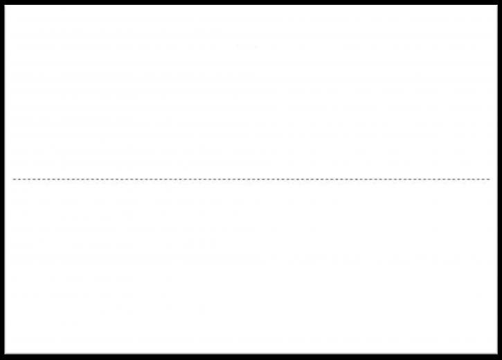 VDA-Warenanhänger ohne Daumenlasche Einzelblatt A5, 150g Offsetkarton weiß, Format 14,8 x 21 cm, VPE 1.000