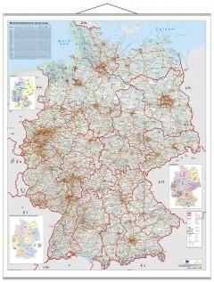Straßen- und Verkehrswegekarte Deutschland