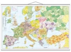 Straßen- und Postleitzahlenkarte Europa
