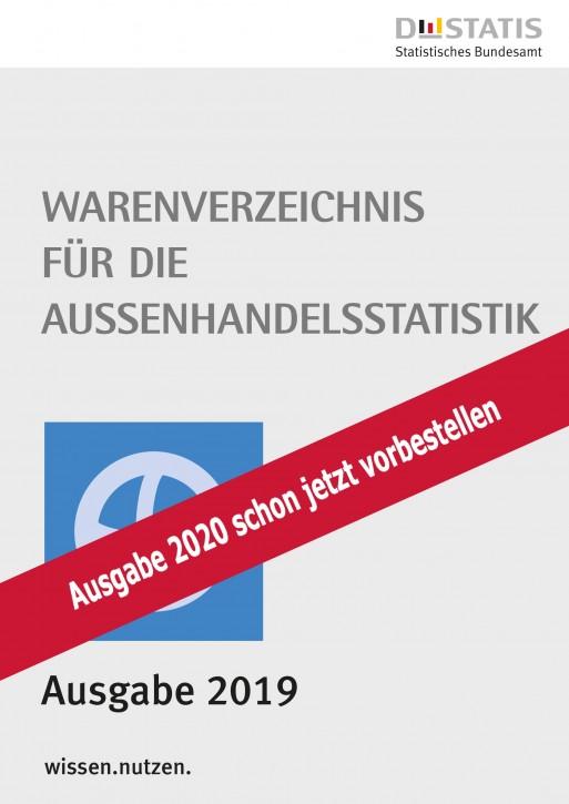 Warenverzeichnis  für die Außenhandelsstatistik Buch-Ausgabe 2020 - jetzt vorbestellen-
