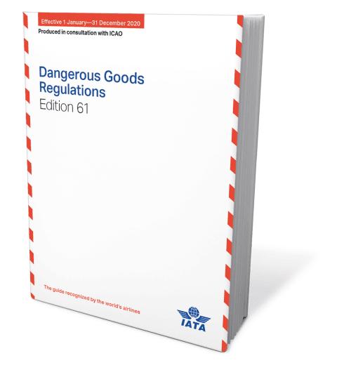 IATA 2020  Dangerous Goods Regulations, 61th Edition, Buchausgabe englisch
