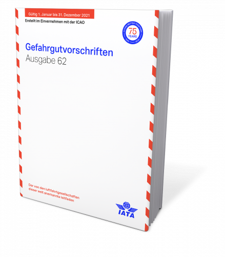 IATA 2021 Gefahrgutvorschriften, Buchausgabe deutsch, 62. Auflage