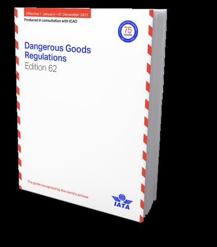 IATA 2021 Dangerous Goods Regulations, 62th Edition, Buchausgabe englisch