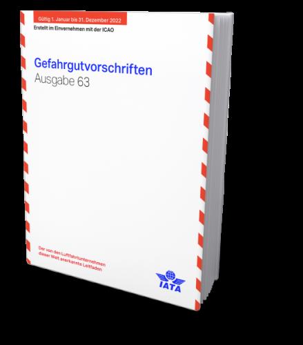IATA 2022 Gefahrgutvorschriften, Buchausgabe deutsch, 63. Auflage - Verfügbar ab Anfang November.