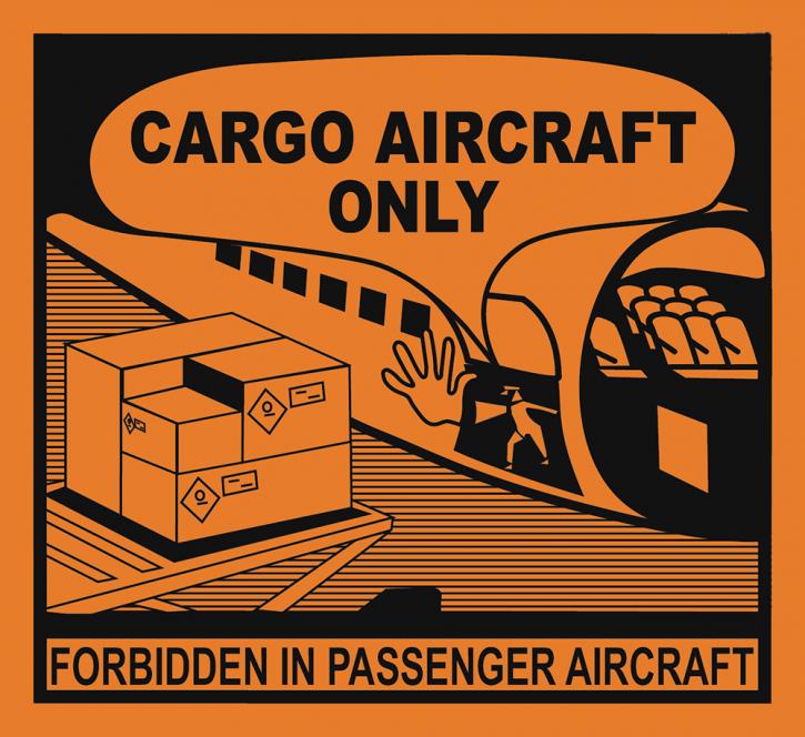 Cargo Aircraft Only (CAO), Format 11 cm x 12 cm, Folie, VPE 100 Stück