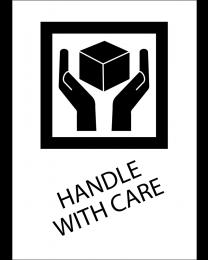 Handle with care, Format 10,5 cm x 14,8 cm, Folie, VPE 100 Stück