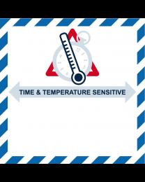 Time and Temperature Sensitive for Healthcare, Format 9 cm x 11 cm, Folie, VPE 100 Stück