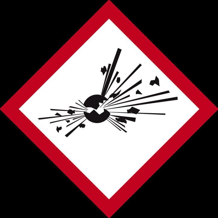 GHS 01 Explosionsgefährdet, Format 10 cm x 10 cm, Folie, auf Rolle à 500 Stück