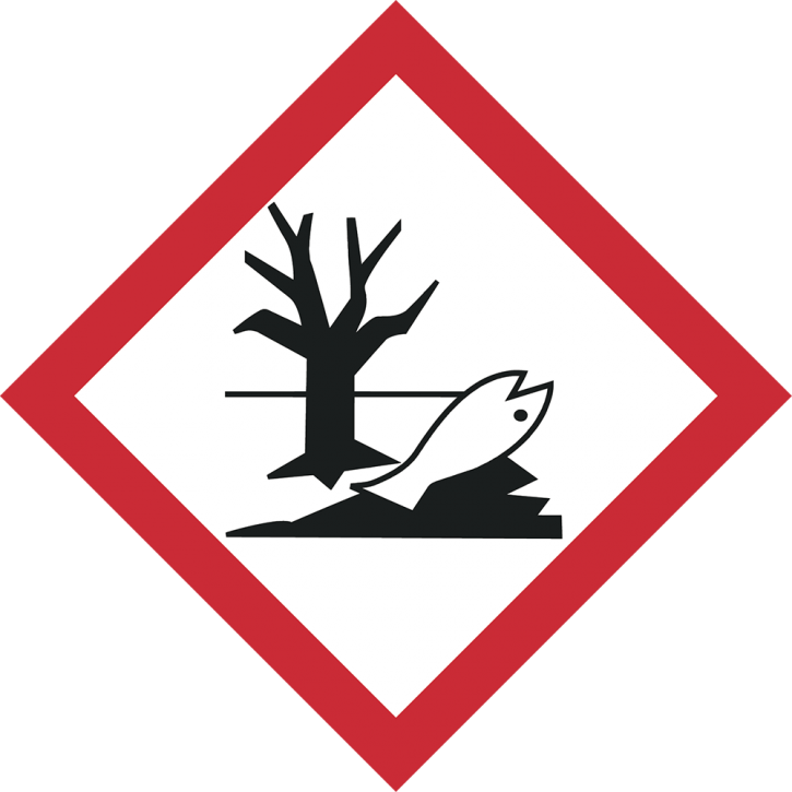 GHS 09 Umweltgefährdend! Format 10 cm x 10 cm, Folie, auf Rolle à 500 Stück