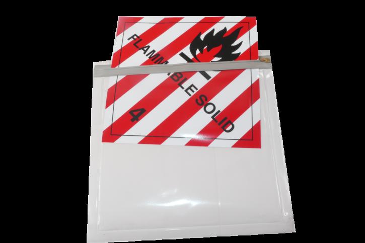 Labelhalter flexibel, transparent, selbstklebend; 250 x 250 mm