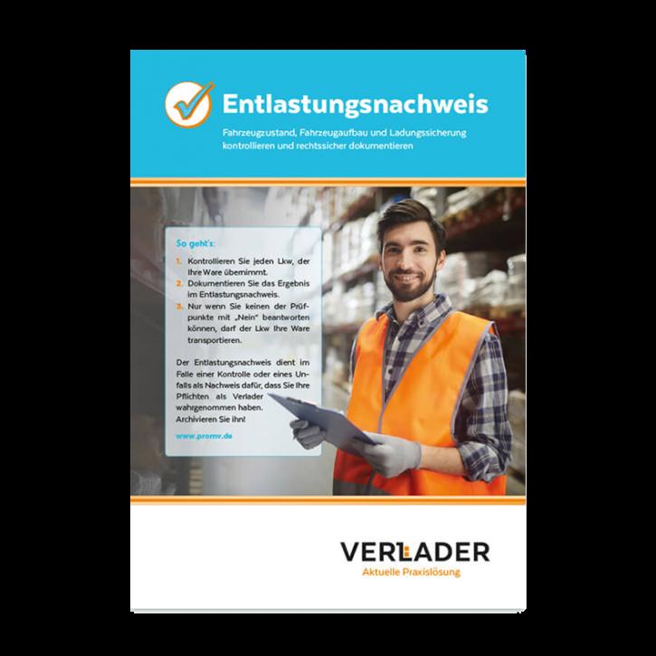"""VERLADER – Abreißblock """"Entlastungsnachweis"""""""