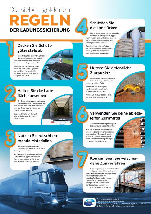 """VERLADER – """"Die sieben goldenen Regeln der Ladungssicherung"""""""