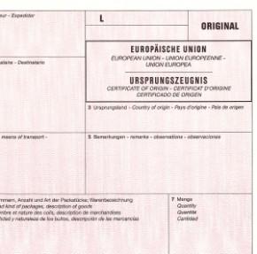 """Bei 2 VPE sparen Sie Geld! Ursprungszeugnis """"eUZ-Verfahren"""" für Laserdrucker 1-fach mit Kennbuchstaben und ohne Nummerierung, VPE 100 Stück"""